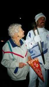 Pauline Campbell and Olympic Torchbearer