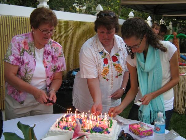 Preparing the Cake
