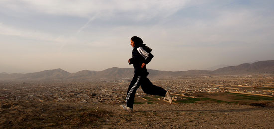 Mehbooba Ahadyar, the only woman from Afghanistan participating in 2008 Olympics