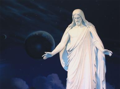 The Christus Statue on Temple Square, SLC, Utah (Mormon headquarters)