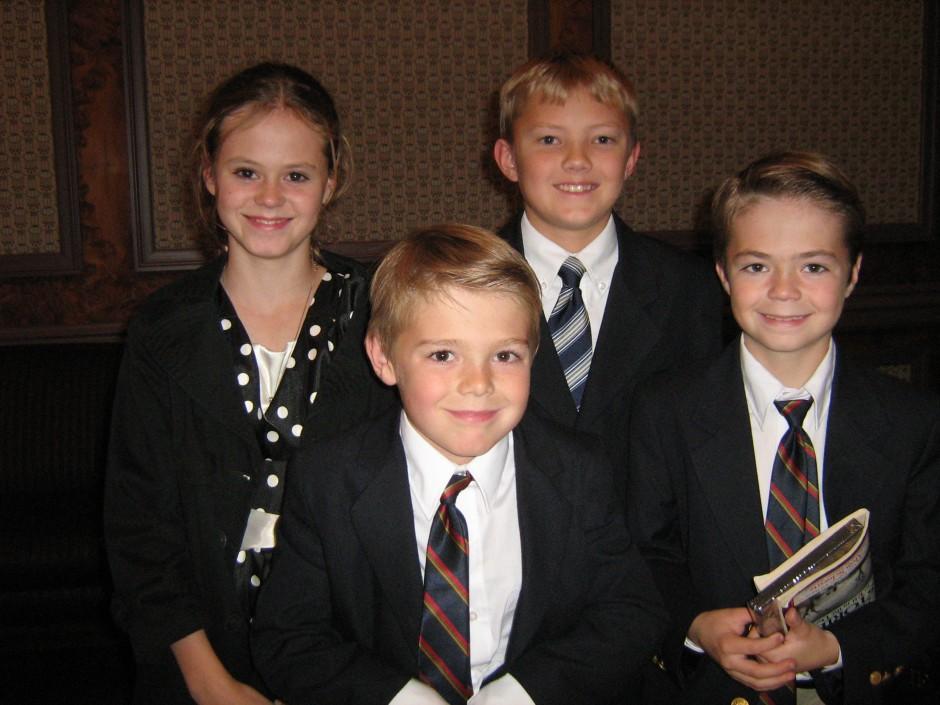 Kenzie Stinger (cast), Kalvin Stinger (Gordon age 8), Jared Myers (Gordon receiving blessing), Kaleb Stinger (Gordon age 12)