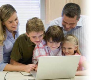 family-on-computer