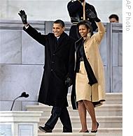 Obama's at Lincoln Memorial