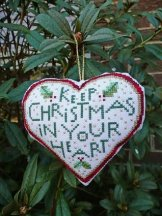 Keep Christmas In Your Heart Stitchery