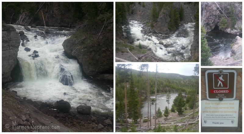 Firehole Canyon Drive, Firehole Falls and Swimming Hole - Yellowstone