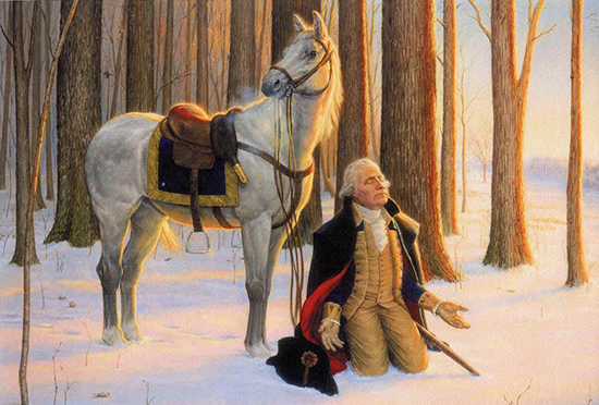 The Prayer at Valley Forge, painting by Ken Corbett