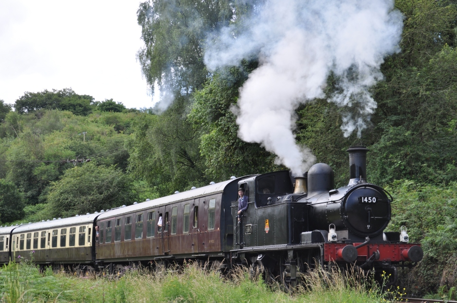 """""""1450 at Norchard Dean Forest Railway"""" by Adam Williams - Own work. Licensed under Creative Commons Attribution-Share Alike 3.0 via Wikimedia Commons"""