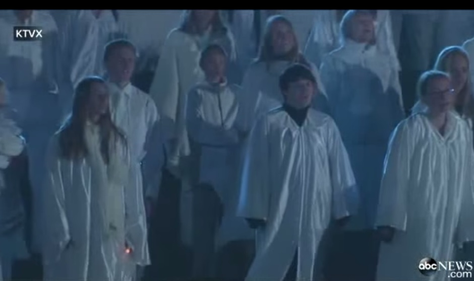Me and Daughter A singing with the angel choir, front right @abcnews