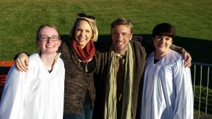 Daughter A, Evynne & Peter Hollens and Me!