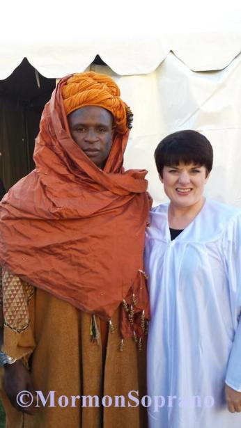 Alex Boyé & Me during the filming of The World's Largest Nativity, released December 2014