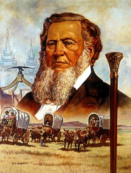 Brigham Young, painting by Robert T. Barrett