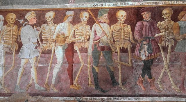 The Dance Macabre -An Italian 15th Century fresco which reminds visitors that death will come for us all