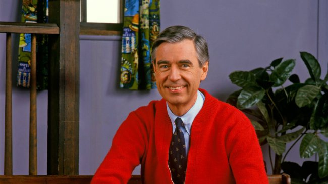 "Fred Rogers, (1928-2003) host of ""Mr. Rogers Neighborhood (first episode 1968-final episode 2001)"