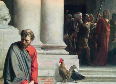 """Peter Denies Christ"" by Carl Bloch"
