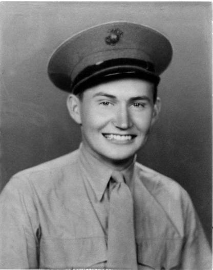 Elder L. Tom Perry as a newly enlisted soldier in the United States Marine Corps. , circa 1942