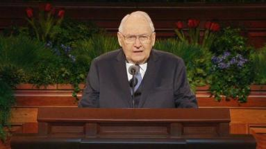 April 5, 2015 - Elder Perry gives what would become his Final General Conference talk