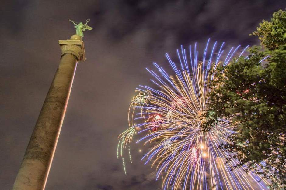Fireworks at West Point Military Academy - July 4, 2015