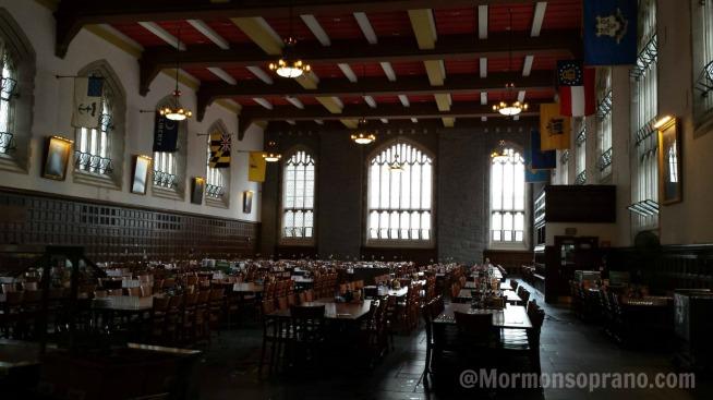 West Point dining hall (aka Hogwarts)