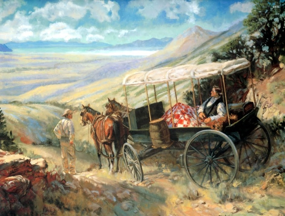 Brigham Young sees the Salt Lake Valley.