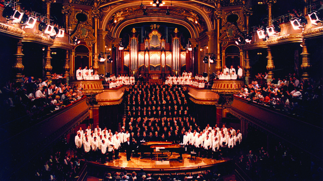 The Mormon Tabernacle Choir performing in Victoria Hall, Geneva Switzerland, 1998