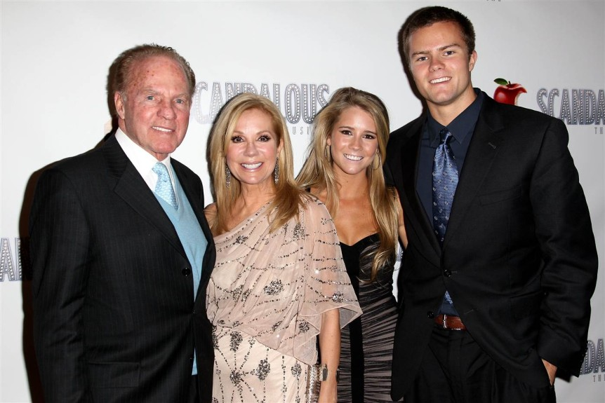 Gifford Family, from left: Frank, Kathie Lee, Cassidy, Cody