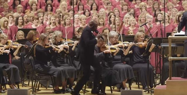 Alex Boyé with the Mormon Tabernacle Choir at Carnegie Hall, July 2015