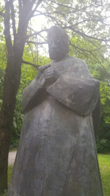 An unmarked statue