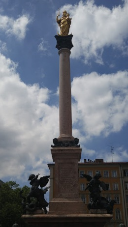 The Mariensäule [Virgin Mary column] was erected in 1638.