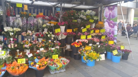 The beautiful flower market