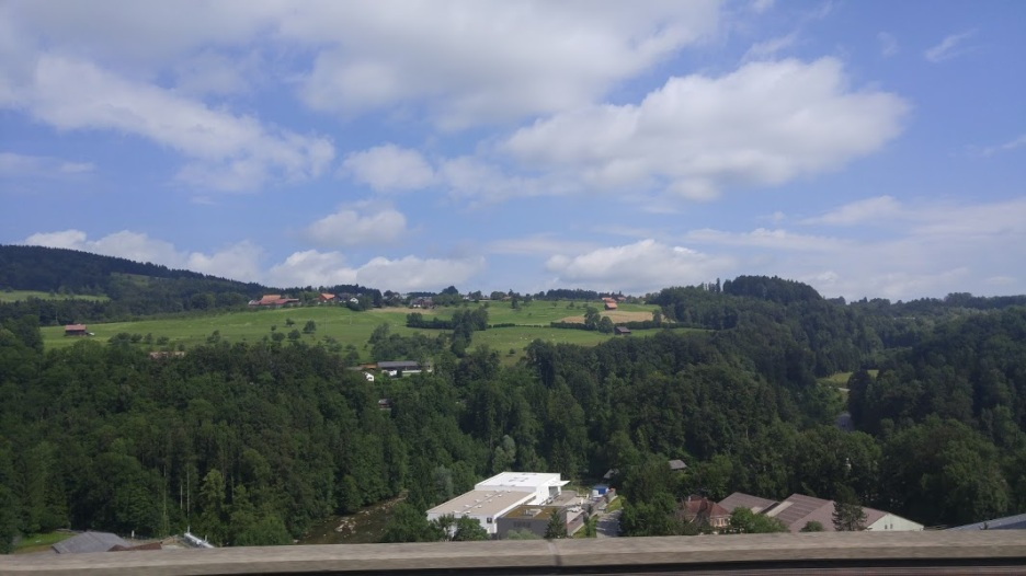 Climbing mountians into Switzlerland