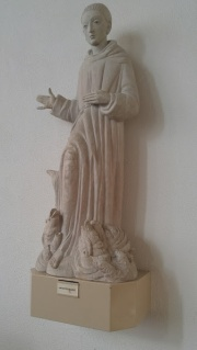 Sculpture of St. Anthony & the miracle of the fish