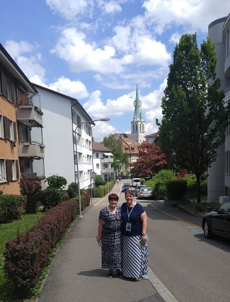 Walking in Zurich with my friend Rebecca