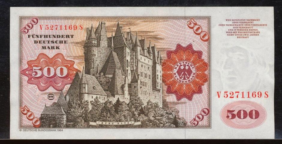 2016-07-08-burg-eltz-500 Deutsche Mark banknote