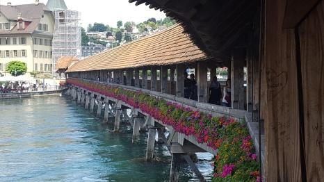 The Kapellbrücke [chapel bridge]