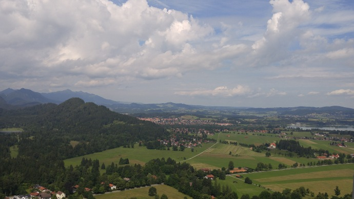 A view of the valley looking south