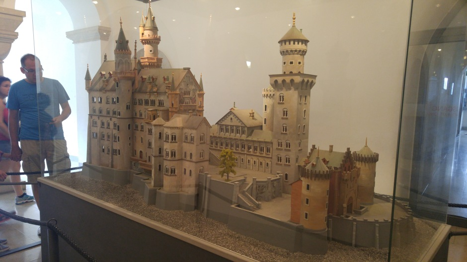 A replica model of the castle can be seen in the gift shop area of the castle