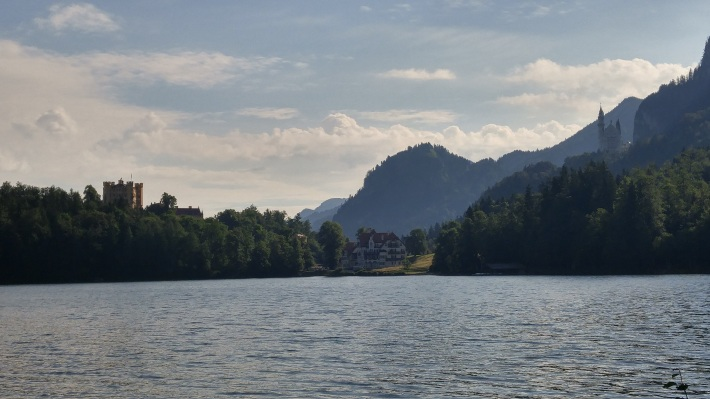 The view from across the lake. Look close and see both castles!
