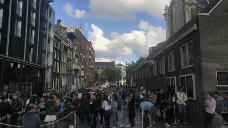 3 Hour Line for The Anne Frank House