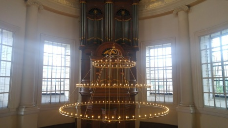 The Old Church Organ & Chandelier