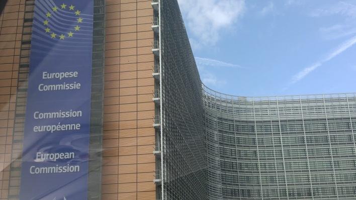 The EU Commission building is big