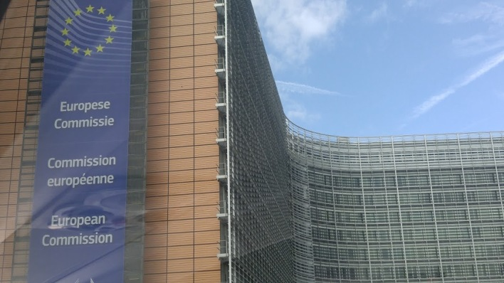 The EU Commission building is big