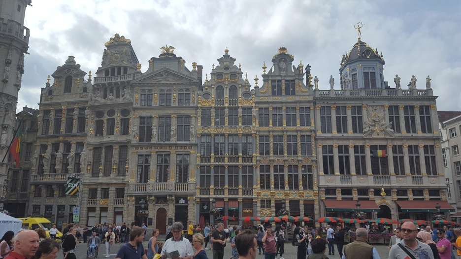 """The """"guilded"""" Guildhalls at Grand Place"""