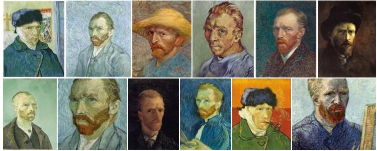 Van-Gogh-self-portraits