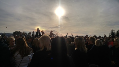Choir members lining up