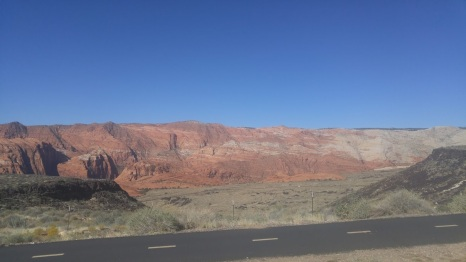 A view of Beautiful Snow Canyon