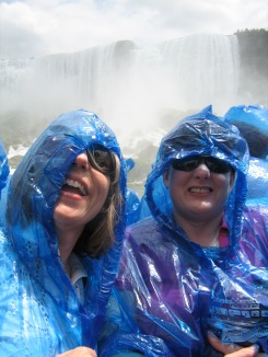 On the Maid of the Mist boat under Niagara Falls