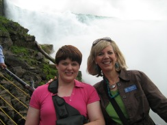 On Tour at Niagara Falls with my best friend Debby