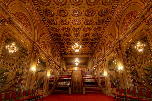 Grand staircase welcomes guests
