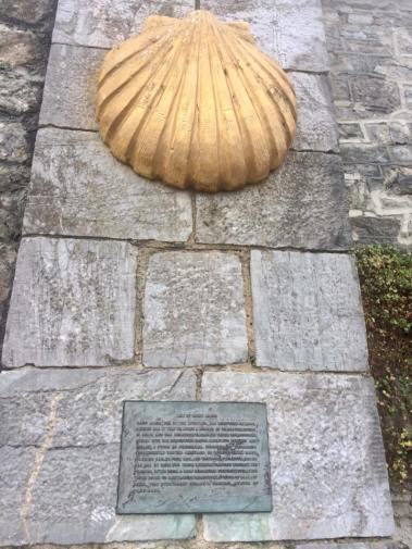 Plymouth England Camio de Santiago monument